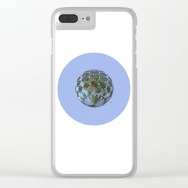 A Blue and Brown Orb Clear iPhone Case