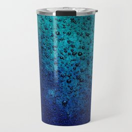 Sea Green Blue Texture Travel Mug