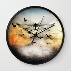salute the morning Wall Clock