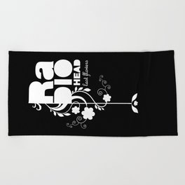 Radiohead song - Last flowers illustration white Beach Towel