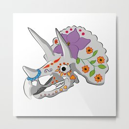 Day of the extinct: Triceratops Metal Print