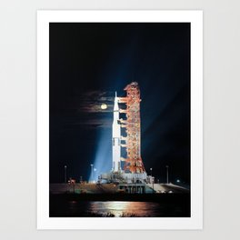 Apollo 17 - Moonlight Launchpad Art Print