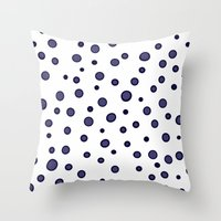 dots Throw Pillows featuring Dots by Monika Strigel
