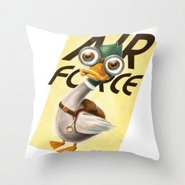 Corporal Duck Throw Pillow