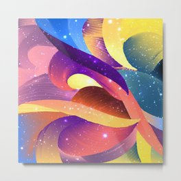 Pastel Sparkle Abstract Metal Print