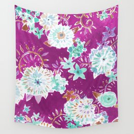 Plum Flourish Floral Wall Tapestry