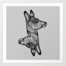 Antelope Heads Art Print
