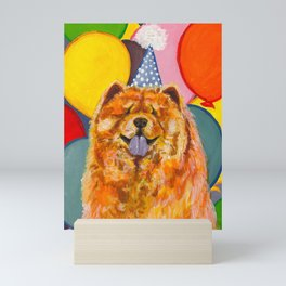 Chow Chow with Balloons Mini Art Print