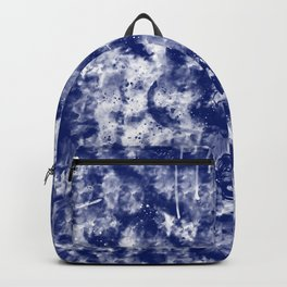 Blue White Abstract Backpack