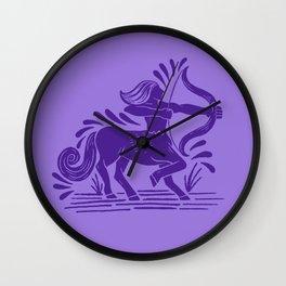 sagittarius zodiac Wall Clock