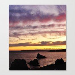Algarve Sunset (Colour) Canvas Print