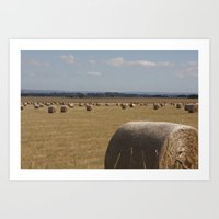 Bales of hay Art Print