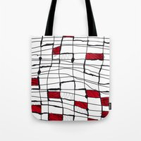 text Tote Bags featuring text by Ivano Nazeri
