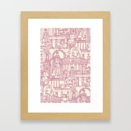 Ancient Greece cherry pearl Framed Art Print