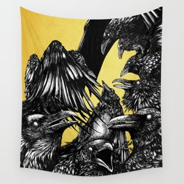 The Riot : Crows (Color version) Wall Tapestry