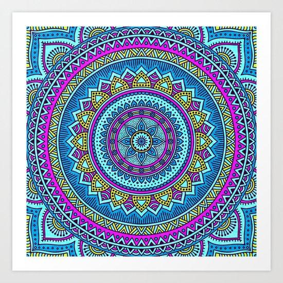 Hippie Mandala 20 Art Print