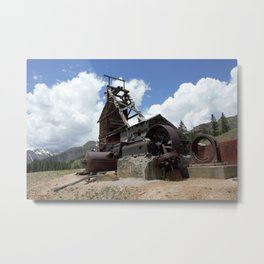 Exploring the Longfellow Mine of the Gold Rush - A Series, No. 2 of 9 Metal Print