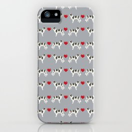 Border Collie love hearts dog breed gifts collies herding dogs pet friendly iPhone Case