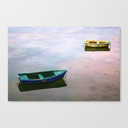 Floating at sunset Canvas Print