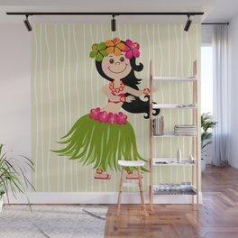 Hawaiian Girl Wall Mural
