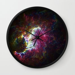 Exploding Cosmos Wall Clock