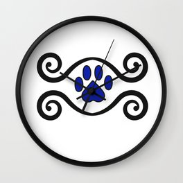 Dog Paws and Swirls Wall Clock