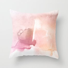 Color me Pink Water Color Throw Pillow
