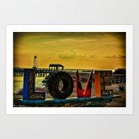 Virginia - For lovers Art Print