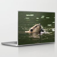 beaver Laptop & iPad Skins featuring Beaver Munching by FiveAcesMedia