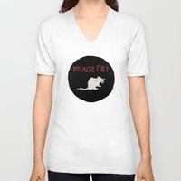 rat V-neck T-shirts featuring Mouse Rat by Shelby Ticsay