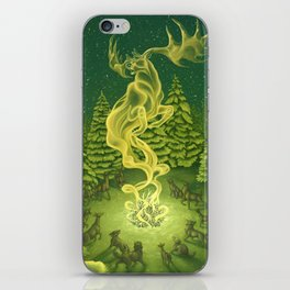 Christmas Card: Irish Elk Spirit iPhone Skin