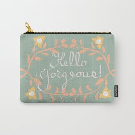 Hello Gorgeous!  Love Yourself Inspirational Quote Illustration Carry-All Pouch