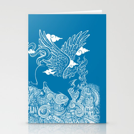 The Last Day of Pegasus Stationery Cards