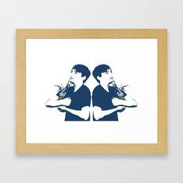 Congested Baby Album Cover Framed Art Print