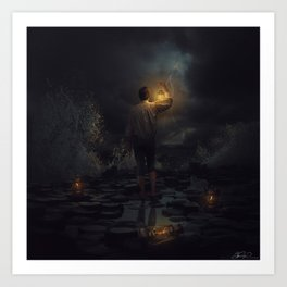 Lost in the darkness Art Print