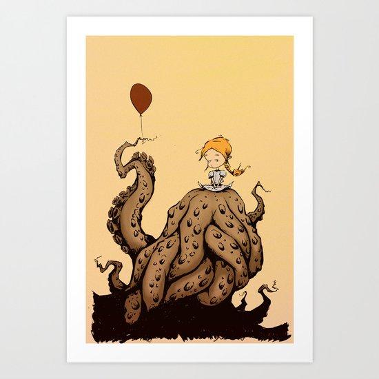 little monster girl Art Print