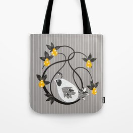 twirly bird Tote Bag