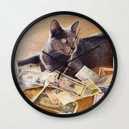 Cash cat Wall Clock
