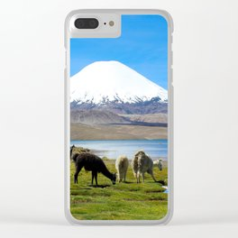 Chungara Lake, Chile Clear iPhone Case