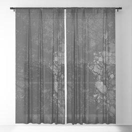 Luxury Black Marble Sheer Curtain