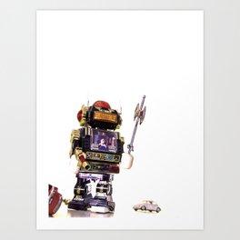 Robot Attack Art Print