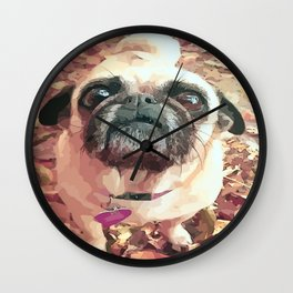 Pug Love ~ In Delilah's Eyes Wall Clock