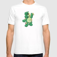 Zombie care bear Mens Fitted Tee MEDIUM White