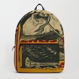 Vintage poster - Enlist in the Navy Backpack