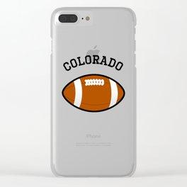Colorado American Football Design black lettering Clear iPhone Case