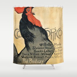 Vintage poster - Cocorico Shower Curtain
