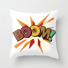 Comic Book Pop Art Spots BOOM! Throw Pillow