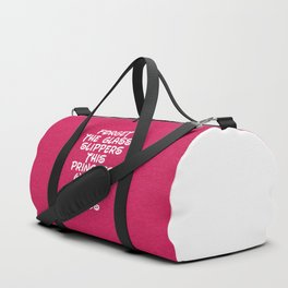 Forget The Glass Slippers Running Quote Duffle Bag
