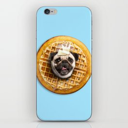 Pug Waffles iPhone Skin