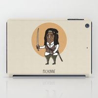 walking dead iPad Cases featuring The Walking Dead, Michonne by Jarvis Glasses